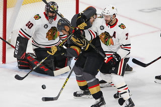 Golden Knights on their 4-3 victory over the Blackhawks
