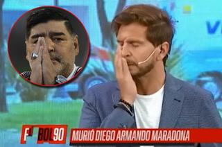 Lágrimas y un silencio profundo: así se confirmó la muerte de Maradona en plena transmisión en vivo