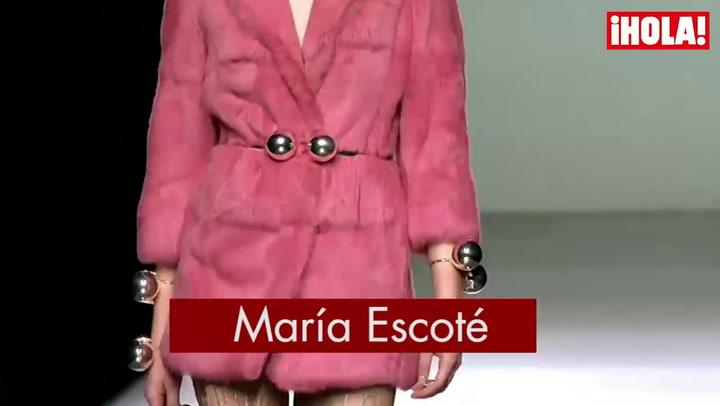 Fashion Week Madrid otoño-Invierno 2015-2016: María Escoté