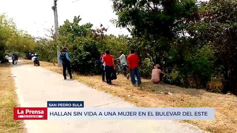 Hallan sin vida a una mujer en el bulevar del este de San Pedro Sula