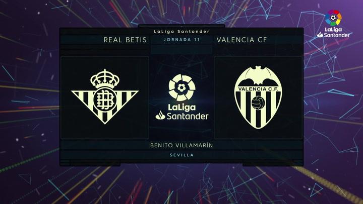 LaLiga Santander (Jornada 11): Betis 4-1 Valencia
