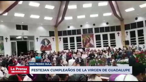 Sampedranos y mexicanos festejan cumpleaños de la virgen de Guadalupe