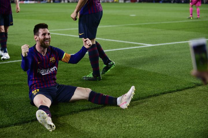Messi marca su gol 600 con el Barça
