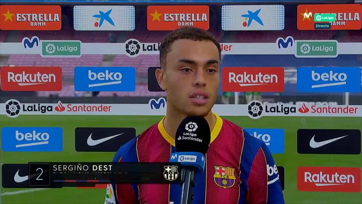 "Sergiño Dest dio la cara: ""Estoy fastidiado por la derrota"""