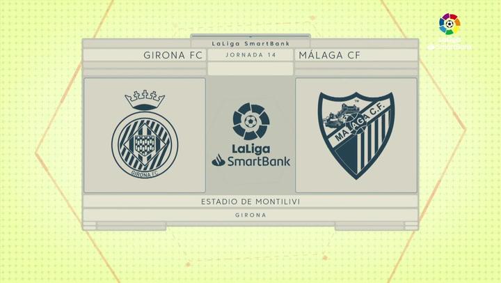 LaLiga SmartBank (J14): Resumen y goles del Girona 0-1 Málaga