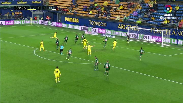 Gol de Cazorla (p.) (1-2) en el Villarreal 1-2 Espanyol