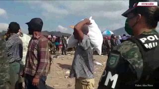 Policía Militar entregó alimentos a pepenadores del crematorio municipal