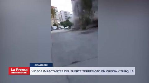 Videos impactantes del fuerte terremoto en Grecia y Turquía