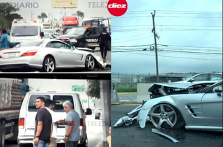 ¡Caghajo! Tuca Ferretti se accidenta y destruye su lujoso Mercedes Benz