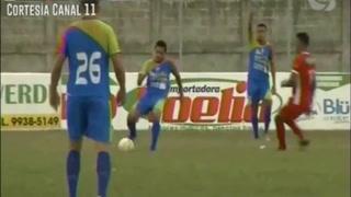 Juan Ramón Mejía marca el 1-0 de Real de Minas ante Real Sociedad