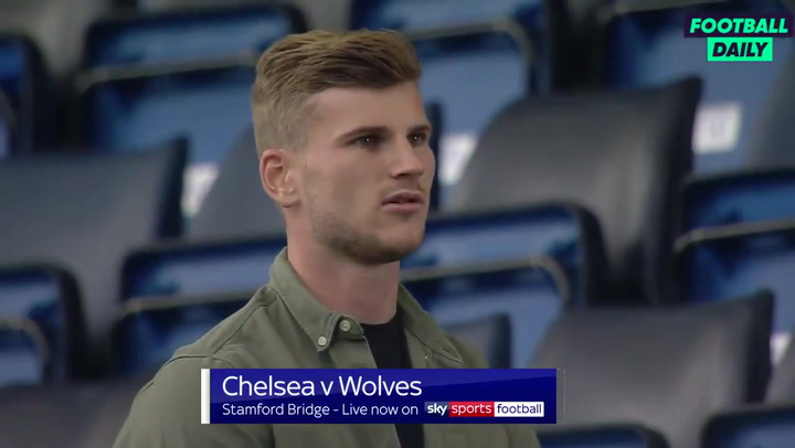 Timo Werner, presente en el Chelsea - Wolves