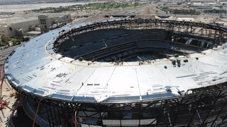 Allegiant Stadium roof ready to be raised; stadium is ready for earthquakes – VIDEO