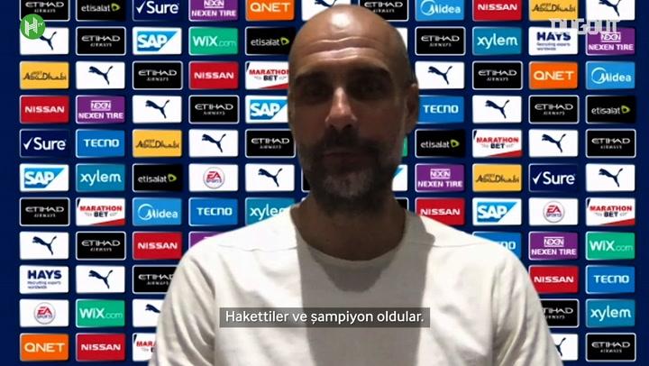 Guardiola, Şampiyon Liverpool'u Tebrik Etti!