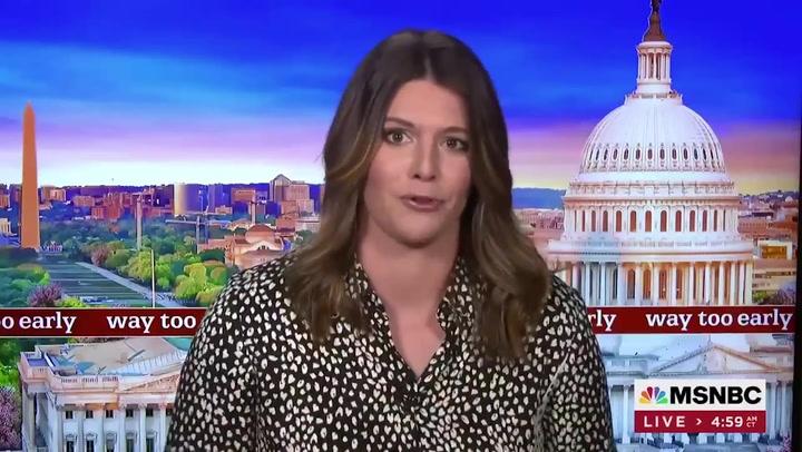 MSNBC host Kasie Hunt quits network live on air