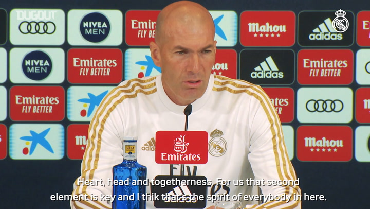 Zidane: 'The formula for El Clásico is head, heart and togetherness'