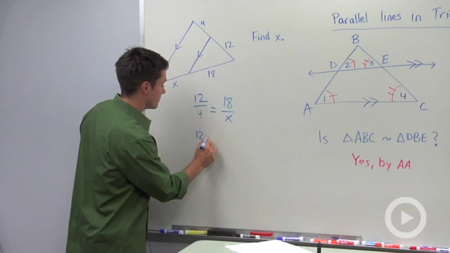 Proportional Segments Between Parallel Lines - Problem 1