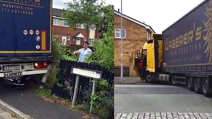 Trailersjåfør herpet nabolag: - Hun bare ignorerte oss