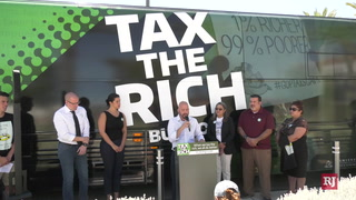 Tax the Rich Bus Tour makes a stop in Las Vegas – Video