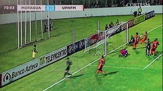 Roberto Moreira anota el tercero para Motagua ante Lobos