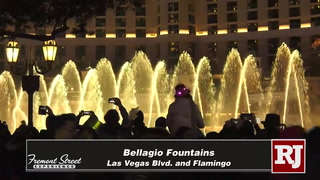 New Year's Eve live from the Las Vegas Strip Bellagio Fountains – Video