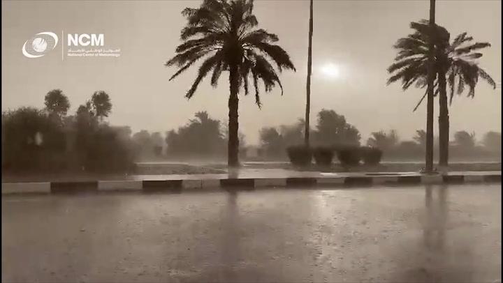 Rain falls across the UAE as the nation turns to cloud seeding