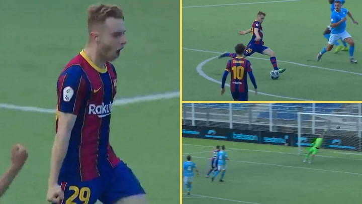 Golazo de Peque con el Barça B