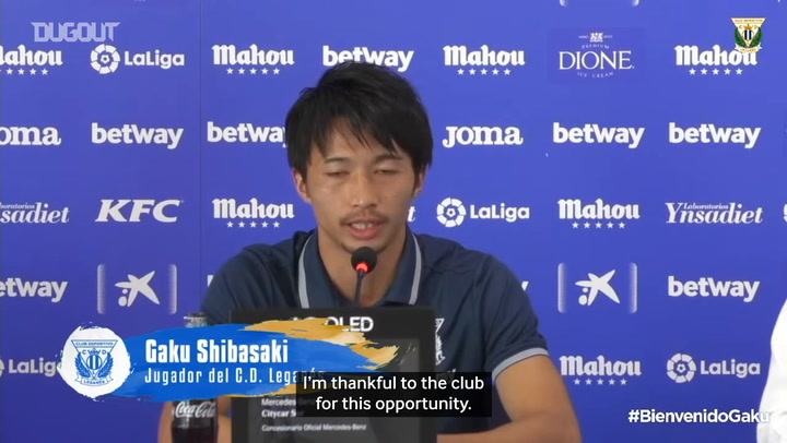 CD Leganés unveil new signing Gaku Shibasaki