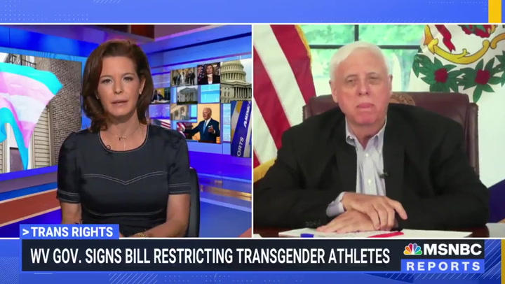 MSNBC host attacks West Virginia governor over transgender law