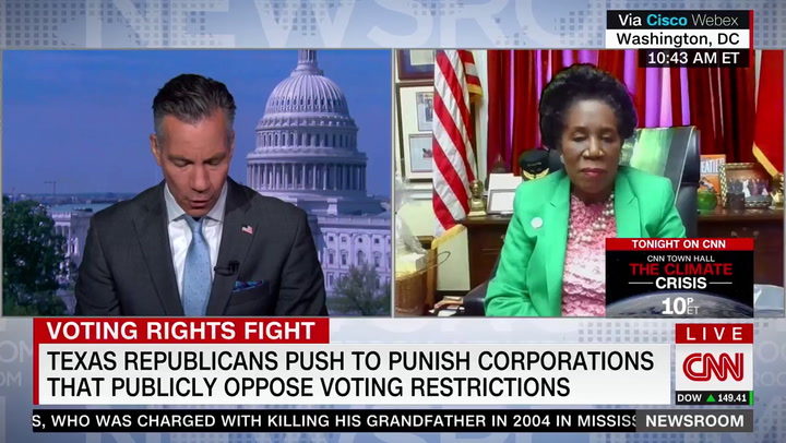 Sheila Jackson Lee: Texas, Georgia Voting Law 'About Race' -- 'And that Is Tragic'