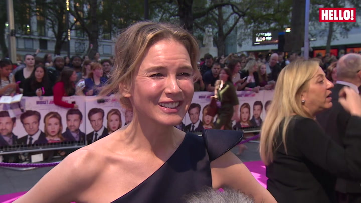 Bridget Jones\'s Baby: Renee Zellweger, Colin Firth and Patrick Dempsey at the London Premiere