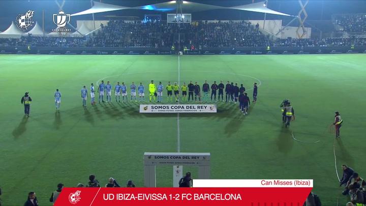 El resumen del Ibiza - Barça de dieciseisavos de Copa del Rey