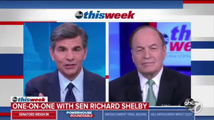 GOP Sen. Shelby: 'Open to Listening to the Arguments' to Allow More Witnesses
