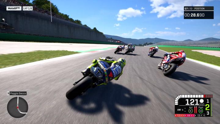 Gameplay MotoGP 19 con Valentino Rossi en Mugello