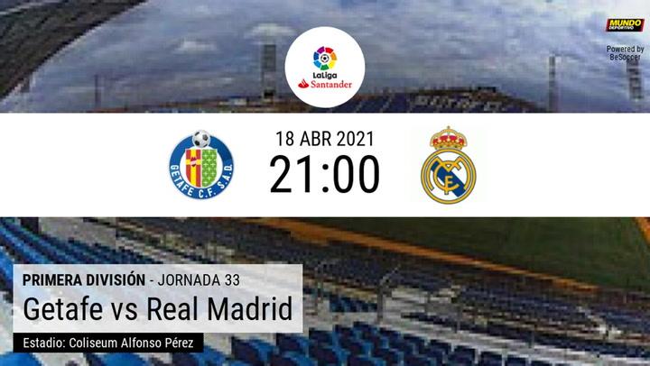 Getafe - Real Madrid: las estadísticas de la previa