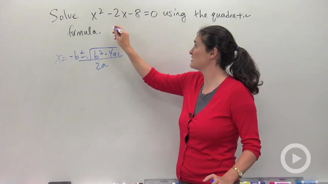 The Quadratic Formula - Problem 1