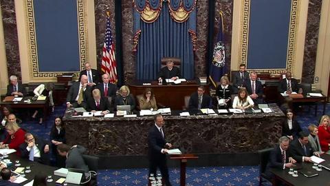 Demócratas acusan a Trump en el juicio de haber querido hacer