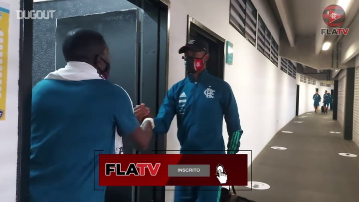 Behind the scenes of Flamengo away victory over Botafogo