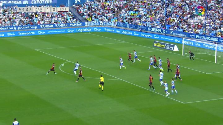 Golazo de Diego Caballo (1-1) en el Zaragoza 3-1 Extremadura