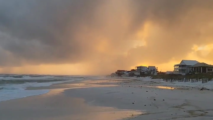 Sunset after Tropical Storm Claudette looks like a painting