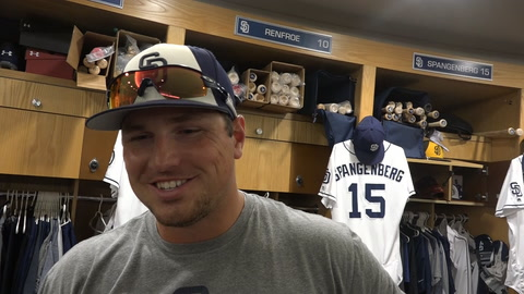Hunter Renfroe on approach at the plate & why he won't use a scooter