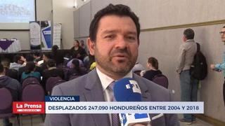 La violencia desplazó a 247,090 personas en Honduras entre 2004-2018