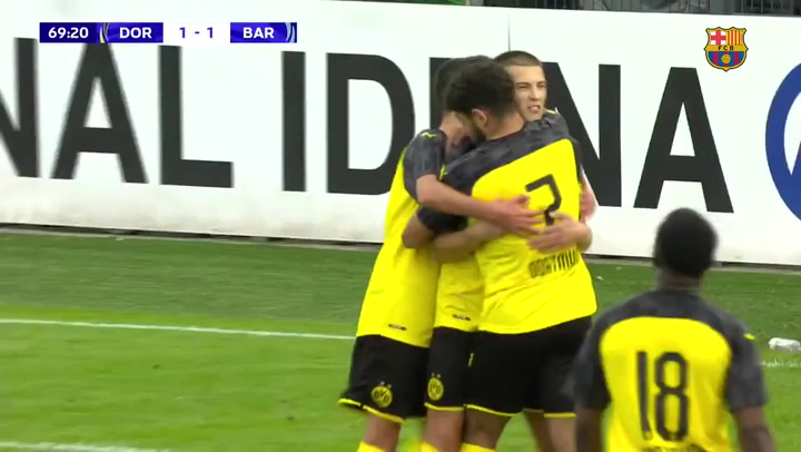 El juvenil de Valdés inicia la Youth League con derrota en Dortmund
