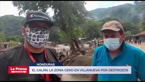El Calán, la zona cero en Villanueva por destrozos