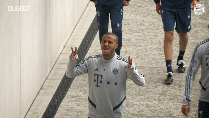 FC Bayern train ahead of Bundesliga return