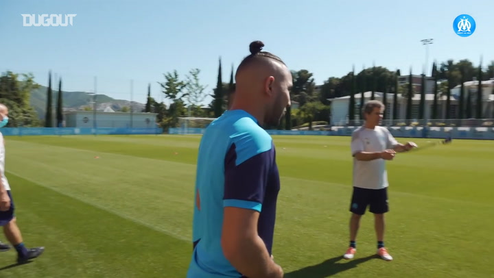 Olympique de Marseille's first training session