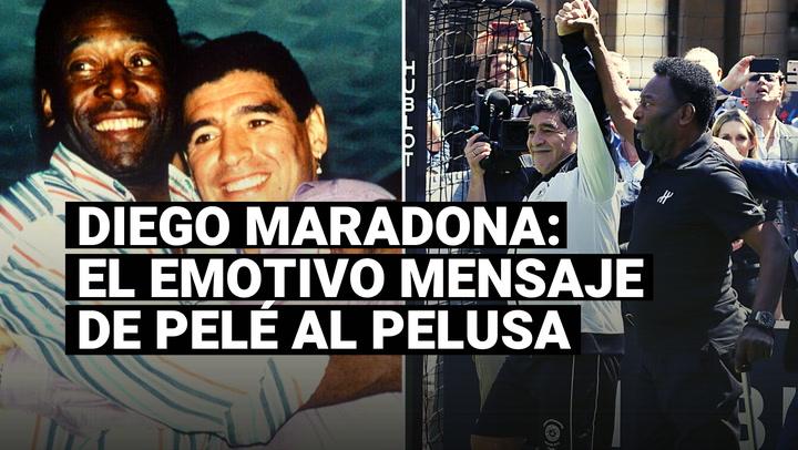 El emotivo mensaje que Pelé dedicó a Diego Maradona, a una semana de su muerte