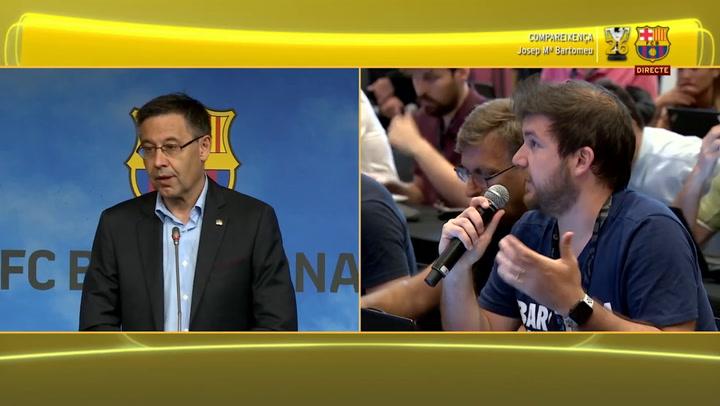 "Bartomeu: ""Nos interesa Griezmann, nos reunimos ayer con el Atlético"""