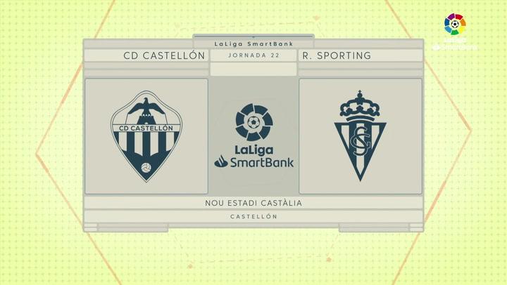 LaLiga Smartbank (Jornada 22): Castellón 2-0 Sporting