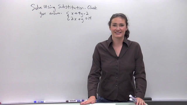 Solving Systems of Equations using Substitution - Problem 2