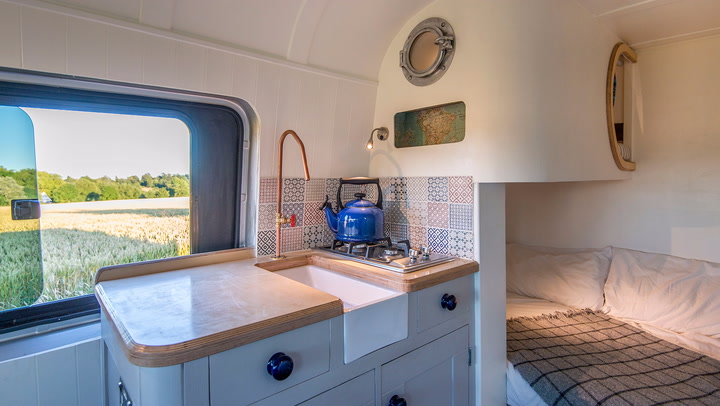 This Adorable Tiny House Fits Into A Van